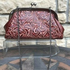 Embossed Leather Convertible Bag (NWT)
